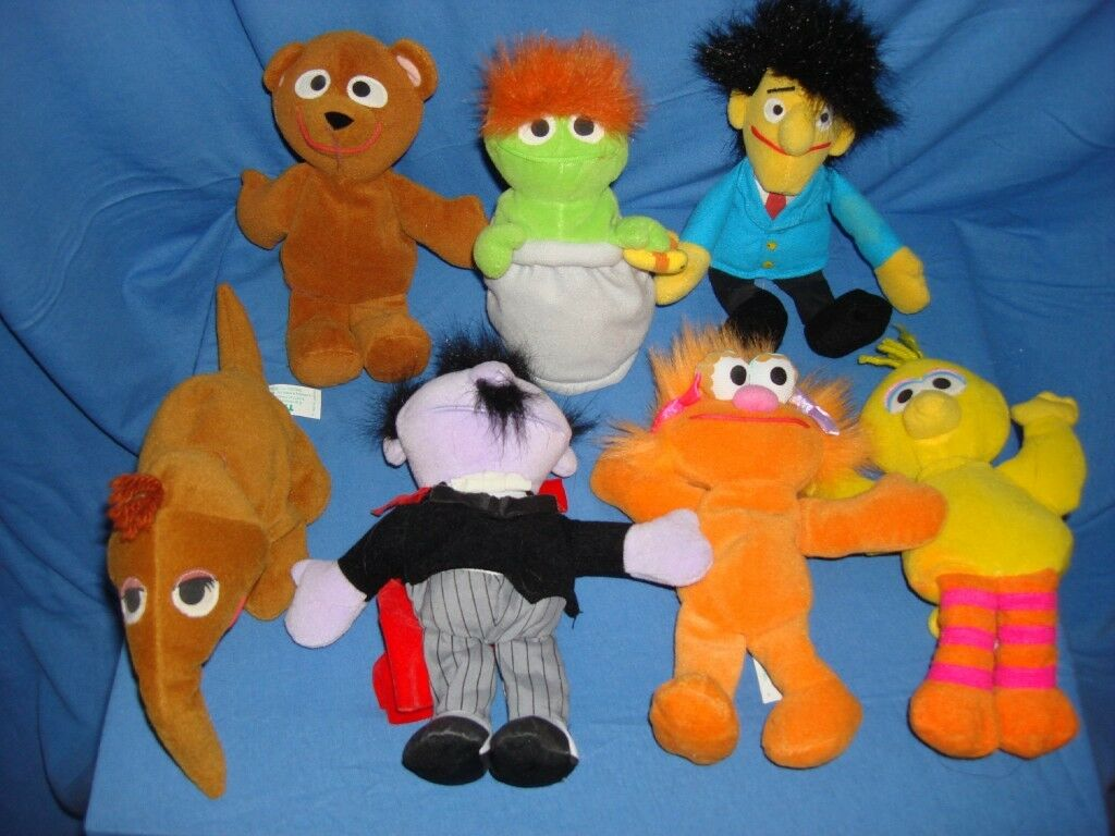 Vintage Tyco 1997 22 Bean Bag Coleccionable Juguetes Sesame Street Elmo & Friends