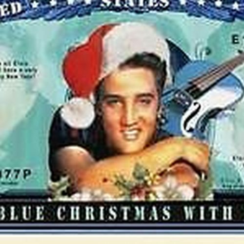 Elvis Presley Blue Christmas Million Dollar Funny Money Novelty Note+FREE SLEEVE