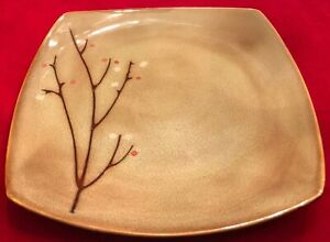Sango-BLOSSOM-BROWN-4764-8-Square-Salad-Plates-Set-of-8-EUC