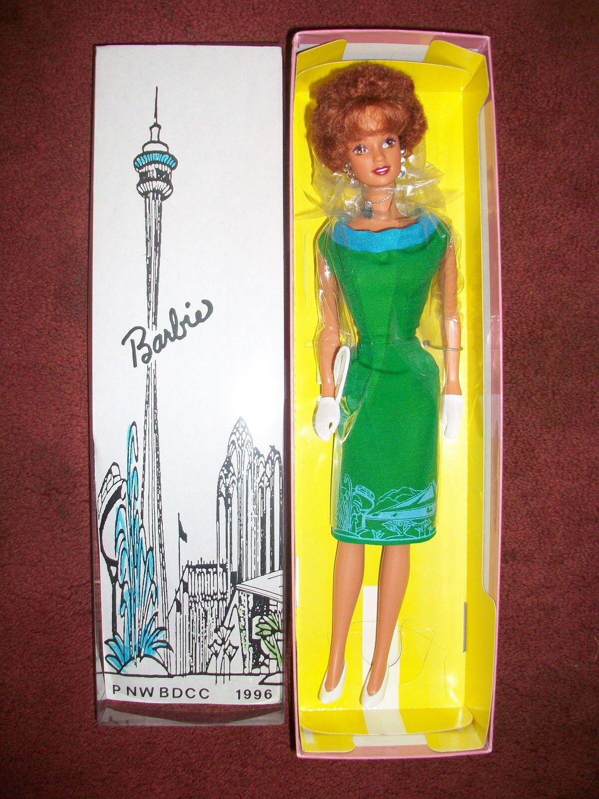 1996 P NW bdcc Colector Muñeca Barbie Pelirroja Pacific Northwest
