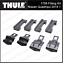 Kit de montaje rápido THULE 1758 barras de Techo para NISSAN QASHQAI 5 puertas 2014 en