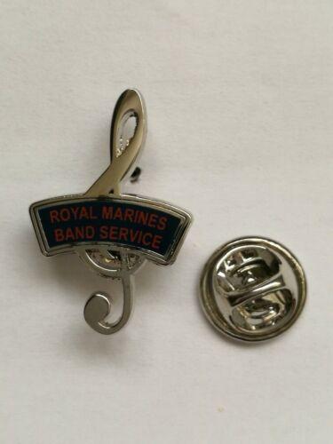Royal Marines Band Service lapel pin badge
