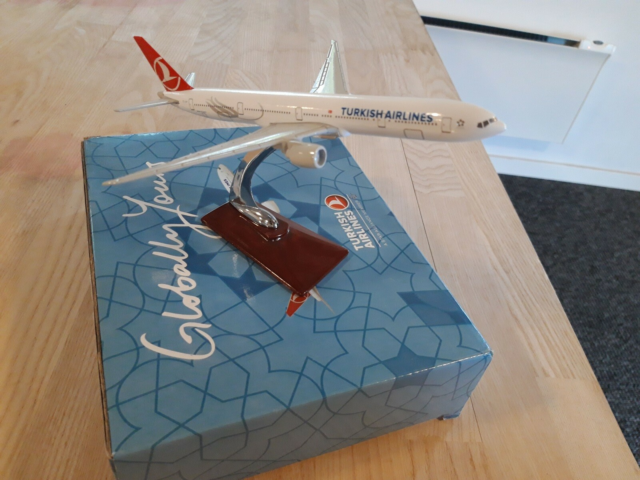 Modelfly, skala 1:500, Har to Turkish airlines densom nye.…