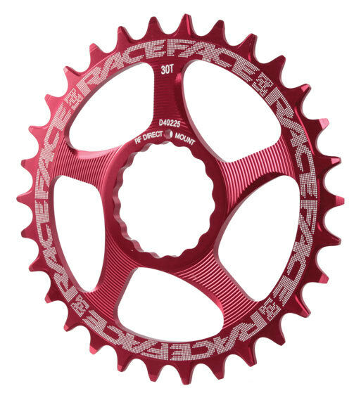 Race Face Single Narrow Wide 1x MTB Direct Mount Cinch Chainring 28t Red