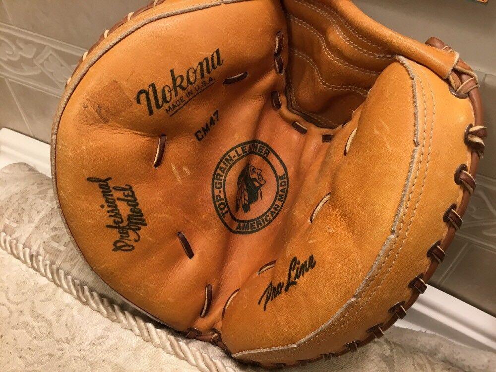 "Nokona Pro Line CM47 30"" Baseball Softball Catchers Mitt Left Hand Throw"