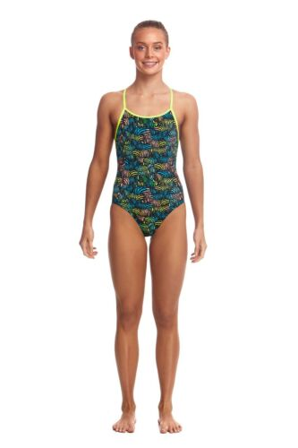 Funkita Swimwear. FUNKITA Colour Run Eco Diamond Back One Piece Swimsuit