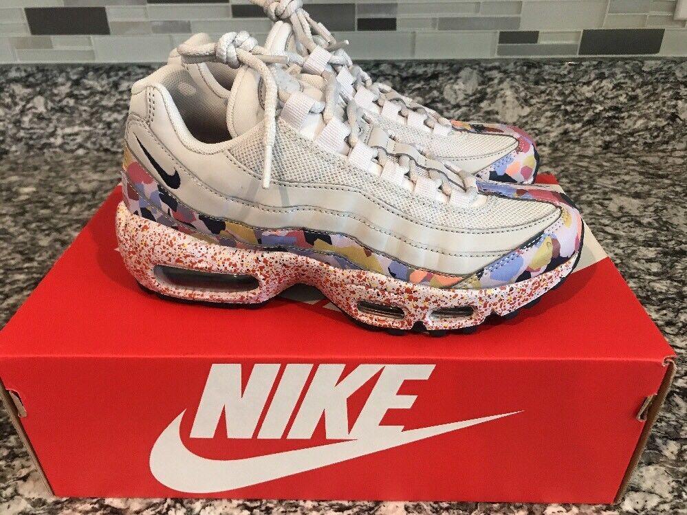 Nike Women Air Max 95 Size 7.5 SE Grey Confetti Vast Grey SE Habanero QS 918413-004 3e15ac