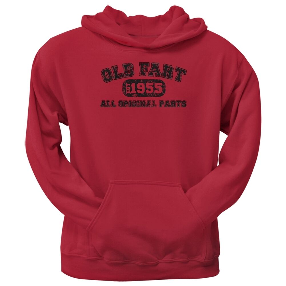 Old Fart Original Parts 1955 Funny ROT Adult Hoodie