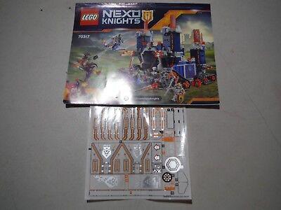 Lego instruction manual NEXO Knights fortress 70323