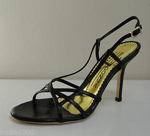 0d11559ee23d2b Image is loading Belladonna-ladies-black-leather-strappy-sandals-UK-4-