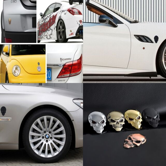 Skull Car Sticker 3D Real Metal Cycle Decal Emblem Badge Logo Truck Gift New