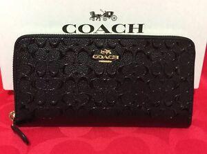 all around zip wallet - Black Coach bBuiW