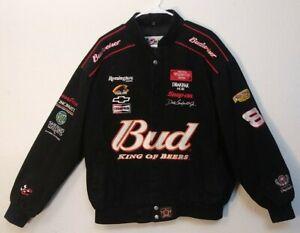 Vintage Womens Dale Jr Nascar Jacket Sz Small Black Chase Authentics 100/% Cotton