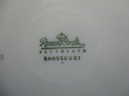 """10/""""  1101K ROSENTHAL BARBARA SANSSOUCI DINNER PLATE"""