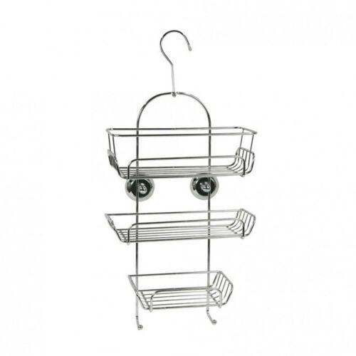 Hang Hanging Hanger Hook Chrome Metal Shower Storage Caddy Rack Organiser Tidy