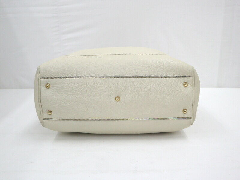 Used Gucci Diana Bamboo Tote Bag Leather White W3… - image 7