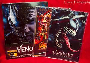 Details about VENOM 4K Ultra HD 3D + 2D Steelbook Filmarena WEA + Marvel  Art Cards