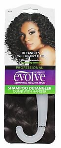 FIRSTLINE-Evolve-Shampoo-DETANGLING-COMB-With-HANGER-9-034-x2-5-034-WHITE-Carded-New
