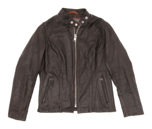 SCHOTT Leather Motorcycle Jacket S Small Womens CA