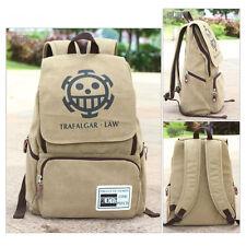 Anime One Piece Trafalgar Law Canvas Backpack Sport Outdoor Boy Girls School Bag