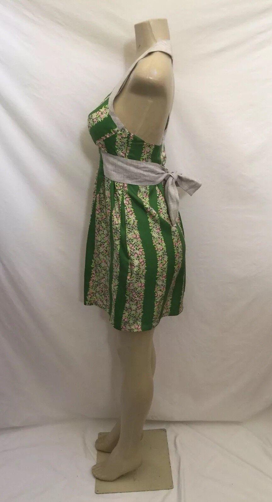 291b02d957c ... Anthropologie Lauren Moffatt Size 2 Floral Print 100% Silk Silk Silk  Tie Waist Dress 961292 ...