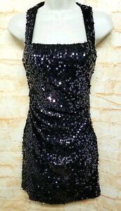 Hailey-Logan-Women-Size-1-2-Sequin-Eggplant-Bodycon-Party-Cocktail-Dress-100