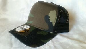 2311d00dd Details about 1X - New Era 9Forty Snapback Trucker Hat Cap Blank {  CAMOUFLAGE } NE 9FORTY