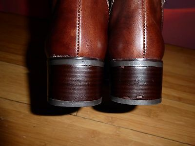 * 44 * excelente sexto sentido de cuero marrón estilo de conducción Botas EU 38 UK 5