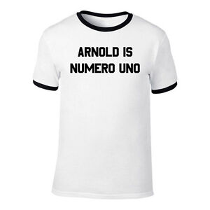 Arnold-Is-Numero-Uno-Pumping-Iron-T-Shirt-Small-to-3XL-Gym-Body-Building