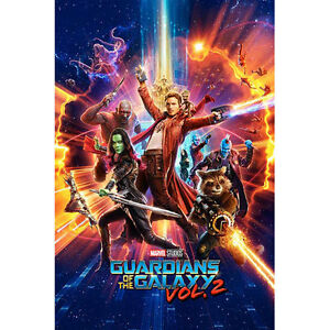 Guardians-Of-The-Galaxy-Vol-2-One-Sheet-POSTER-61x91cm-NEW-Star-Lord-Gamora