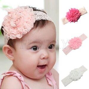 3pcs Girls Kids Baby Lace Flower Headband Hair Band Headwear Toddler