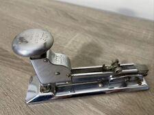New Listing Ace Model 102 Metal Stapler Fastener Chrome Industrial Art Deco Office Vintage