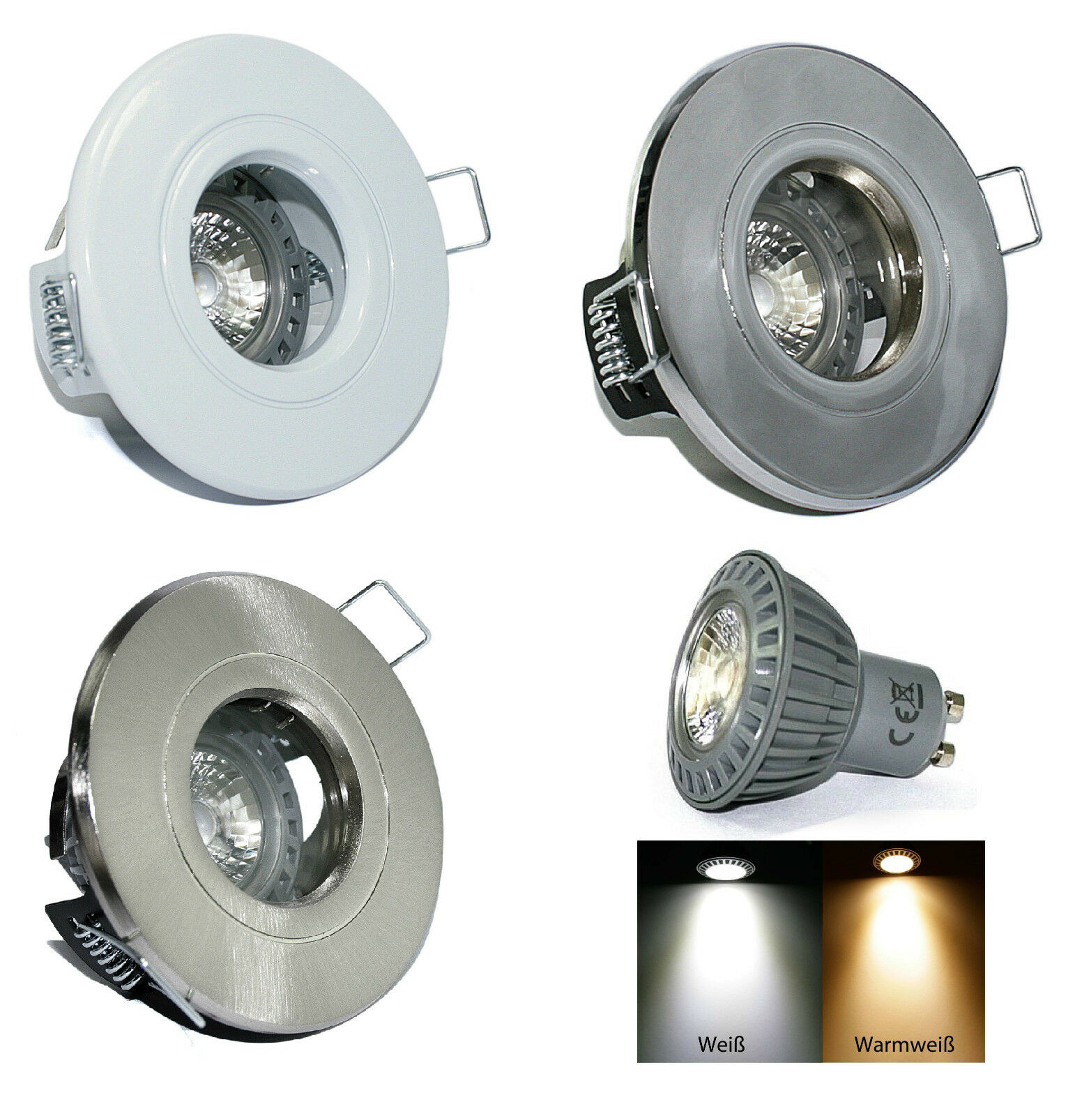 Einbaurahmen AQUARIUS 230V High Power Led 5W = 50W Dimmbar IP44 GU10