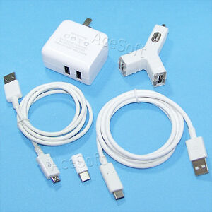 USB AC Power Adapter Car Charger Type-C Cable Adaptor for ZTE Grand X Max 2 Z988