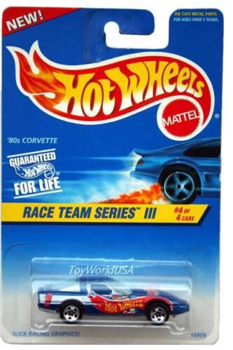 1997 Hot Wheels #536 Race Team III #4 /'80s Corvette 5spk light roof 0918crd