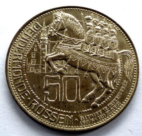 BELGIUM DENDERMONDE 50 ROSSEN 1981 Local Currency 30mm 7.8g Brass Plated TT8.2