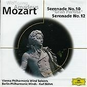 Mozart: Serenades Nos.10 & 12, Vienna Philharmonic Winds, Bohm,, Very Good