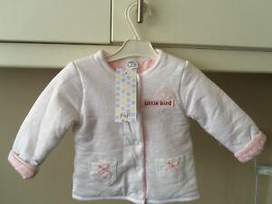 Diplomatique Baby Girl's Veste/manteau - 3-6 Mois. - Blanc/rose-f & F-neuf Avec étiquettes-afficher Le Titre D'origine Ture 100% Garantie