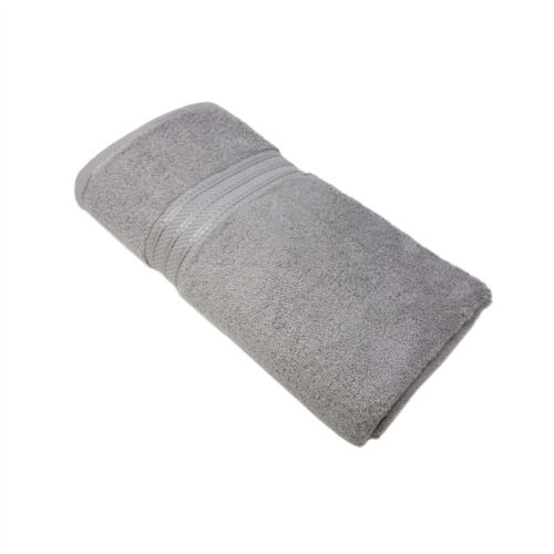 4 PCE LUXURY STRIPED HOTEL QUALITY EGYPTIAN COTTON SILVER HAND BATH TOWEL 600GSM