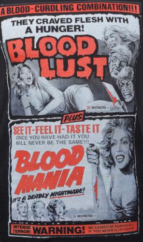 Sale MEN/'S VEST BLOOD LUST DOUBLE FEATURE  B-MOVIE VINTAGE HORROR MOVIE POSTER