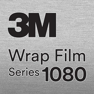 3M 1080 BR120 BRUSHED ALUMINUM Vinyl Vehicle Car Trim Wrap Decal Film Sheet Roll