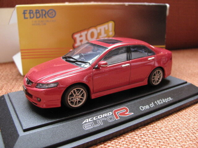 Model Cars For Sale >> 1 43 Ebbro 43439 Honda Accord Euro R Red Model Cars For Sale Online