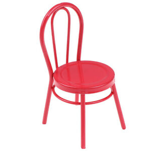 Dollhouse-Miniature-1-12-Metal-Chair-Model-Dolls-House-Furniture-Accessories-QA