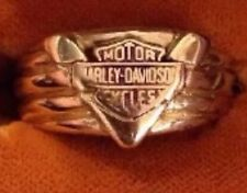 Mens  10k Yellow gold Harley Davidson Ring by Stamper  Size 15  V Twin