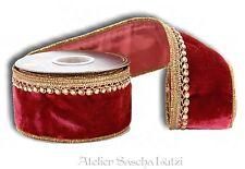Katherine´s Collection Schleifenband Samt 1Meter Tischband Dekoband 6cm breit