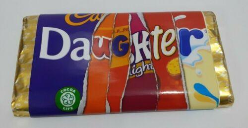 4 X Personnalisé Anniversaire Nan Mamie Maman Soeur Fille Chocolat Bar wrappers