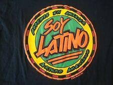 Vintage 90's SOY LATINO Arturo Anguiano 1993 Rap Hip Hop style Latin T shirt XL
