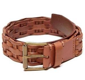 new armani exchange mens braided insert leather belt