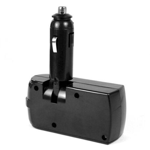 12//24V Car Lighter Extension Splitter Double Socket Cable USB Charger Practical