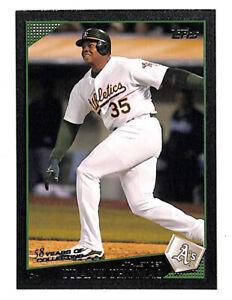 2009 Topps Frank Thomas 15/58 BLACK PARALLEL card Athletics HOF Rare